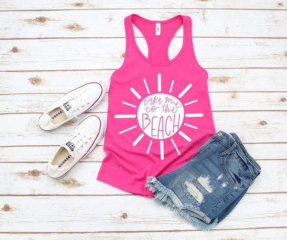 Take me to the beach women's summer beach vacation t-shirt and tank top 15