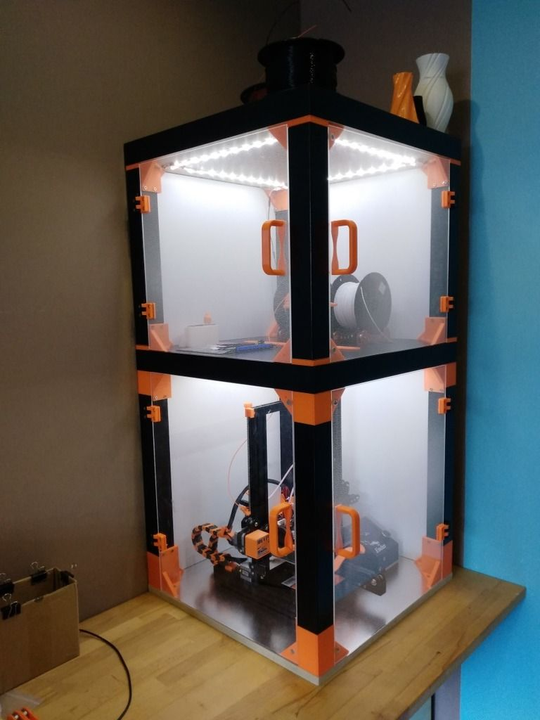 IKEA Lack Enclosure Creality Ender 3 Compilation by