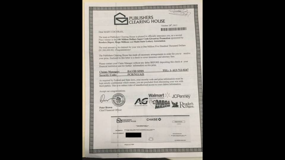It looks so exciting  The Publishers Clearing House prize