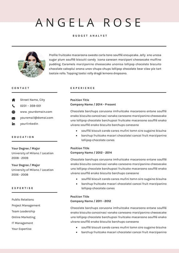resume template professional cv template for word us letter and