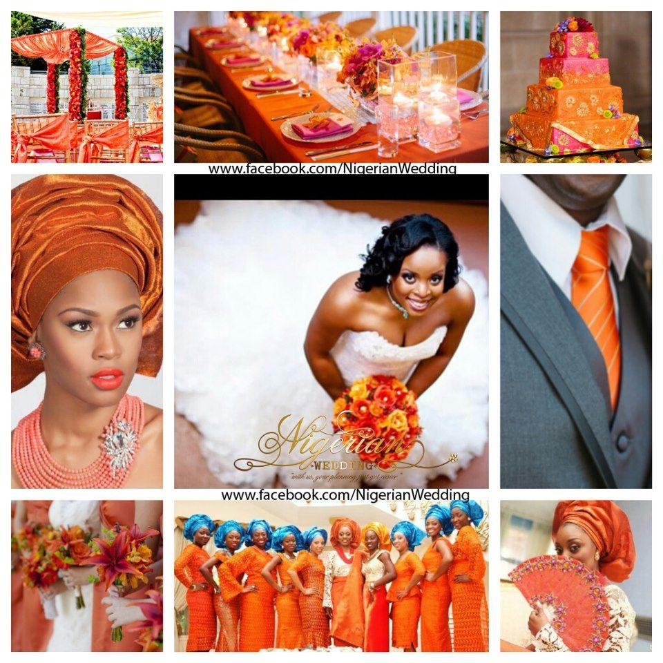 Orange, Fuchsia Pink, Turquoise Blue Wedding Color Scheme