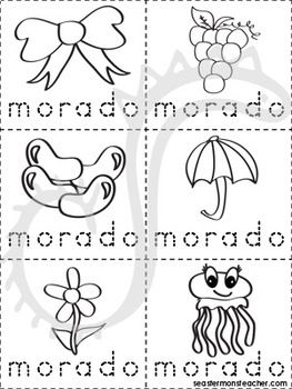 Morado X2f Violeta Color Book Spanish A Book About The Color Purple Things And Items That Are Purple For Color Ident Coloring Books Purple Color Color Unit