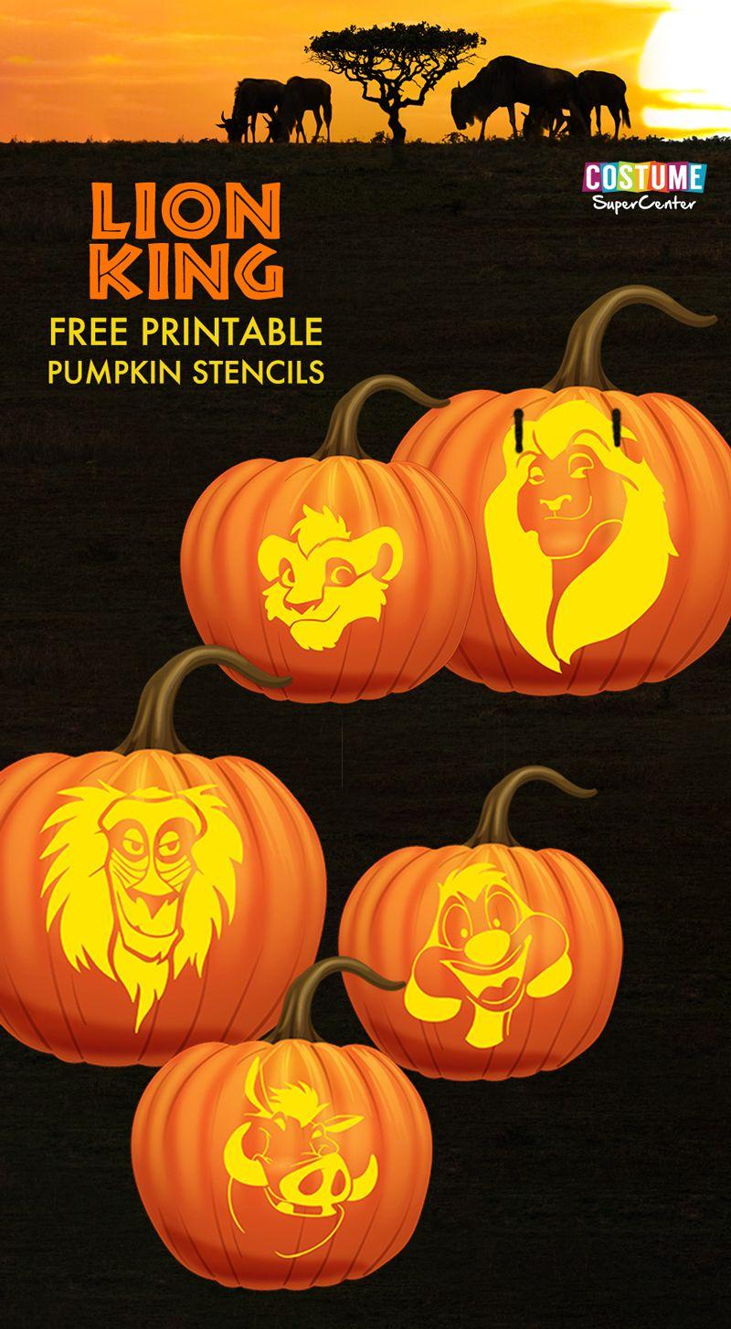 Free Lion King Pumpkin Carving Stencils Pumpkin Carving Pumpkin Stencil Lion King