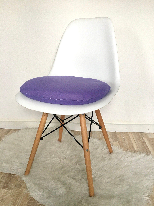 Lila Sitzkissen 6cm Hoch Super Gepolsterte Sitzkissen Etsy Sitzkissen Stuhl Polsterstoff Stuhlkissen