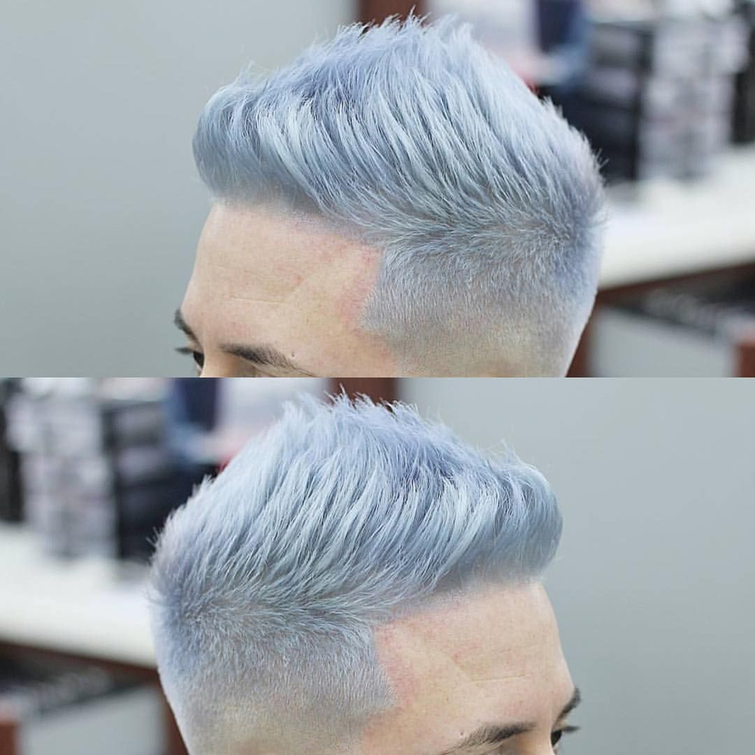 Silver Blue Frost Men Hair Color Mens Hair Colour Grey Hair Color