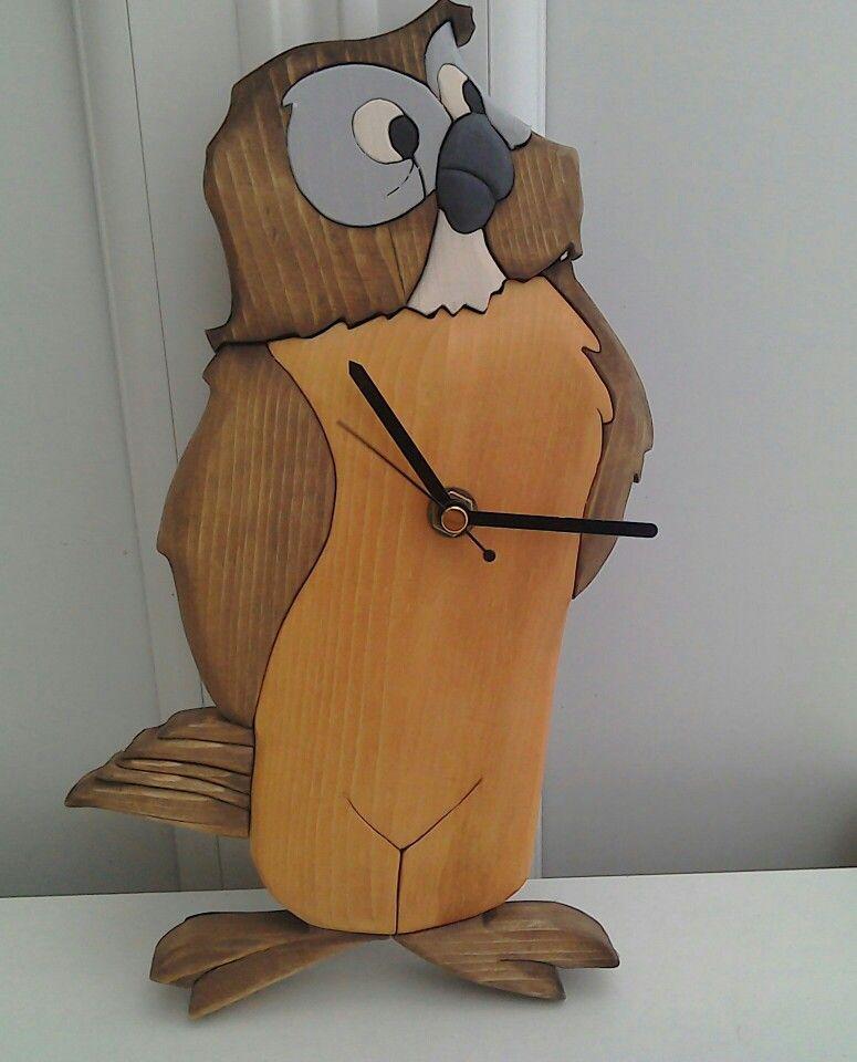 Owl intarsia