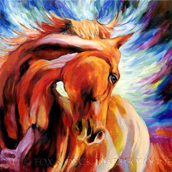 Horse art | Pferde gemalt: Horse Universum | Pferd Universum