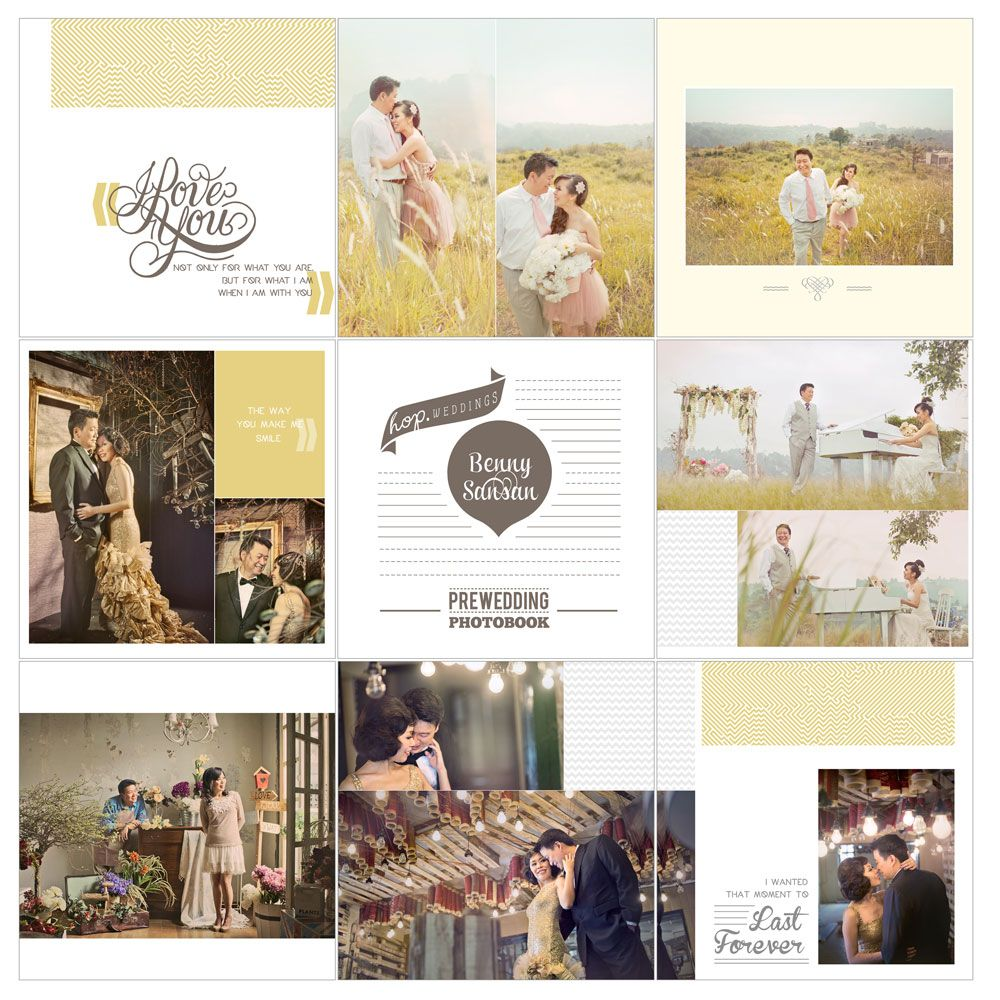 Benny & Sansan Prewedding Photobook Preview, edit & design by Wenny Lee, photo by HOP