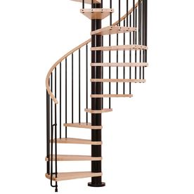 Best Arke Phoenix 55 In X 10 Ft Black Spiral Staircase Kit 640 x 480