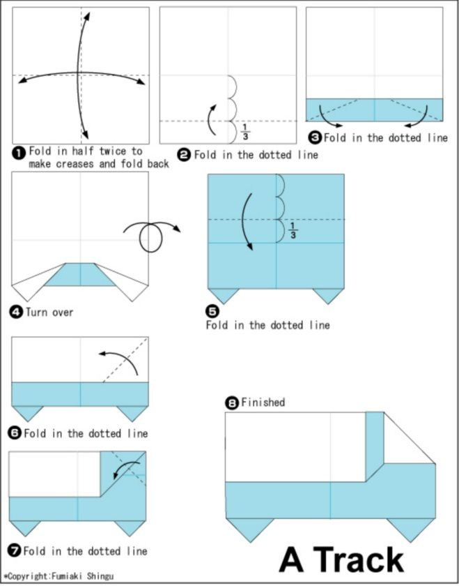 Truck Origami Instructions Thought About Doing With Napkins