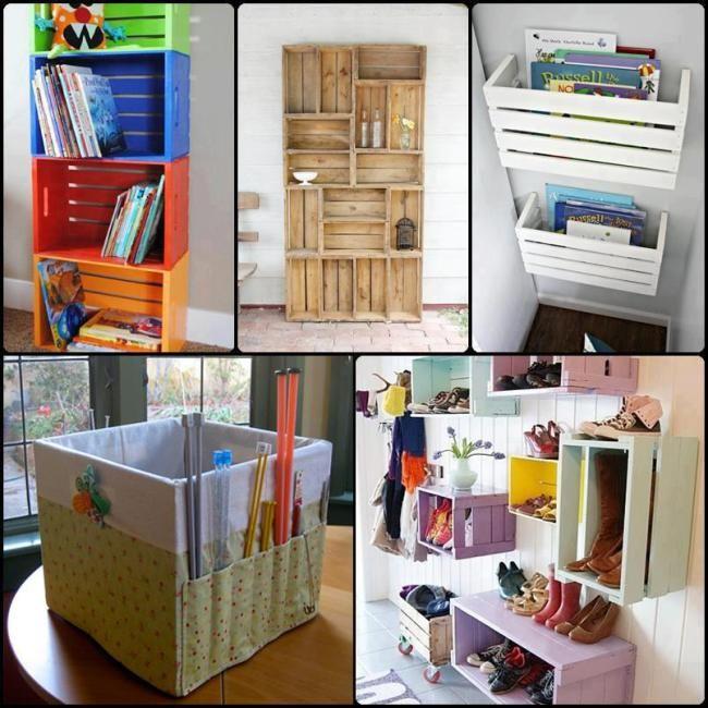 decorado peliculas madera - buscar con google   decoración ... - Imagenes De Armarios Hecho Con Cajas Recicladas