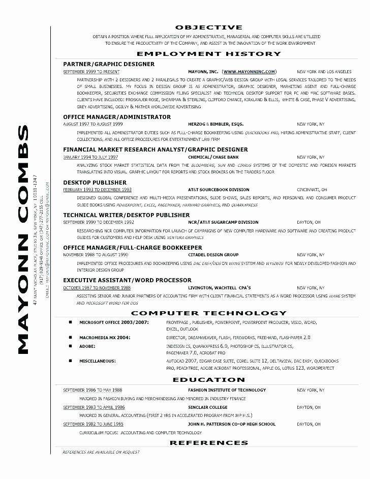 Full charge bookkeeper resume awesome radtourism