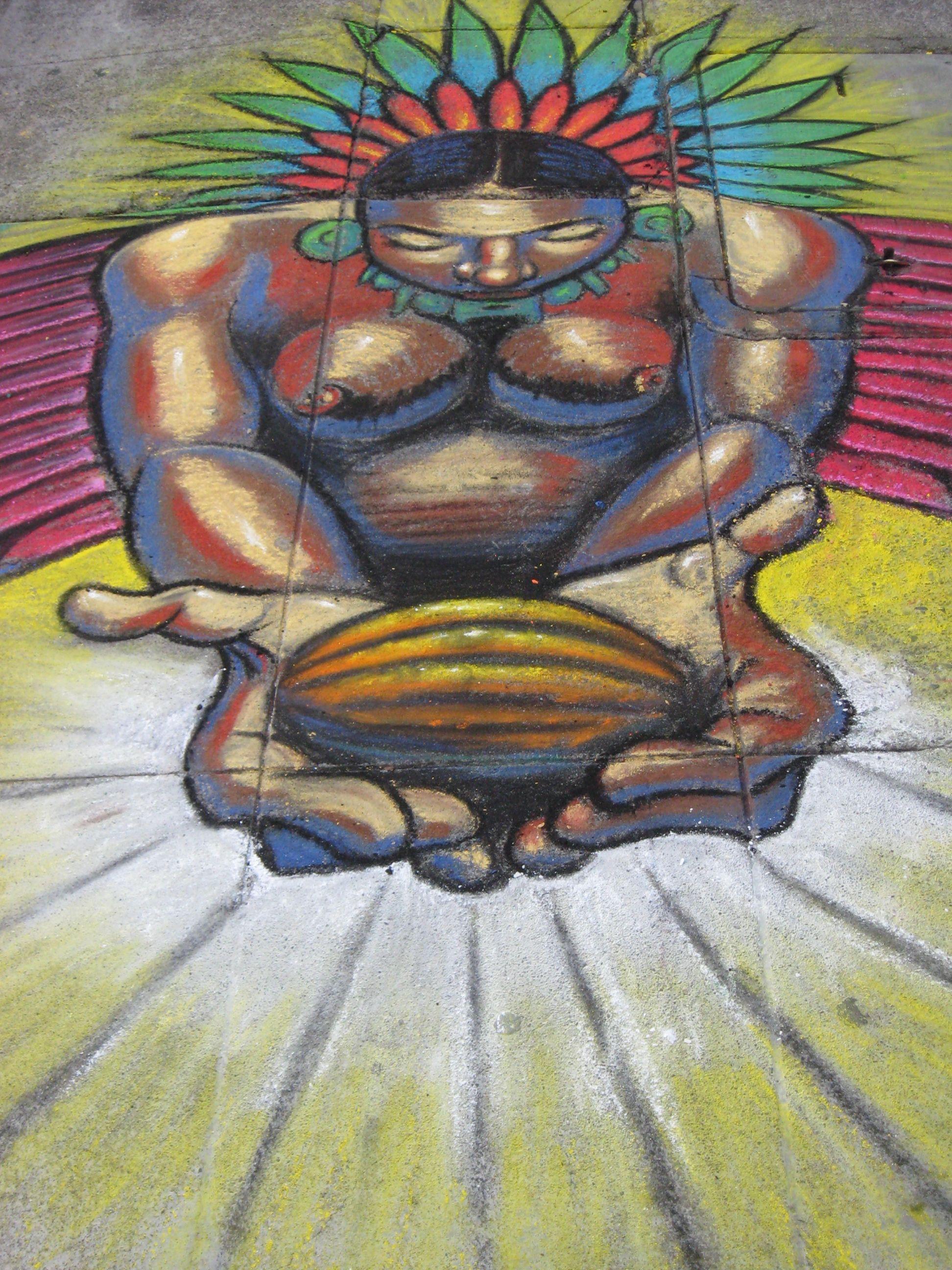 Aztec Chocolate God & Chalk Art Festival