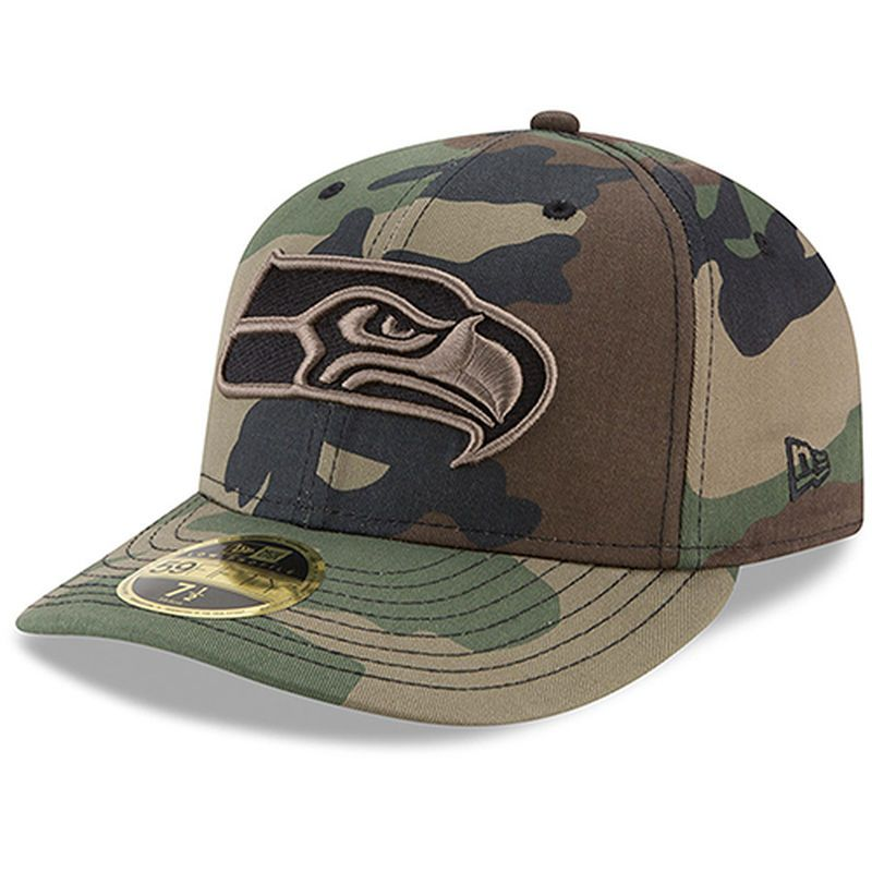 e46a7f1bd Seattle Seahawks New Era Woodland Camo Low Profile 59FIFTY Fitted ...