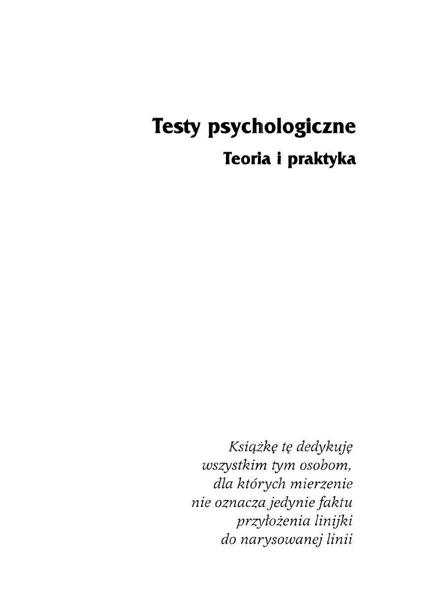testy psychologiczne elżbieta hornowska