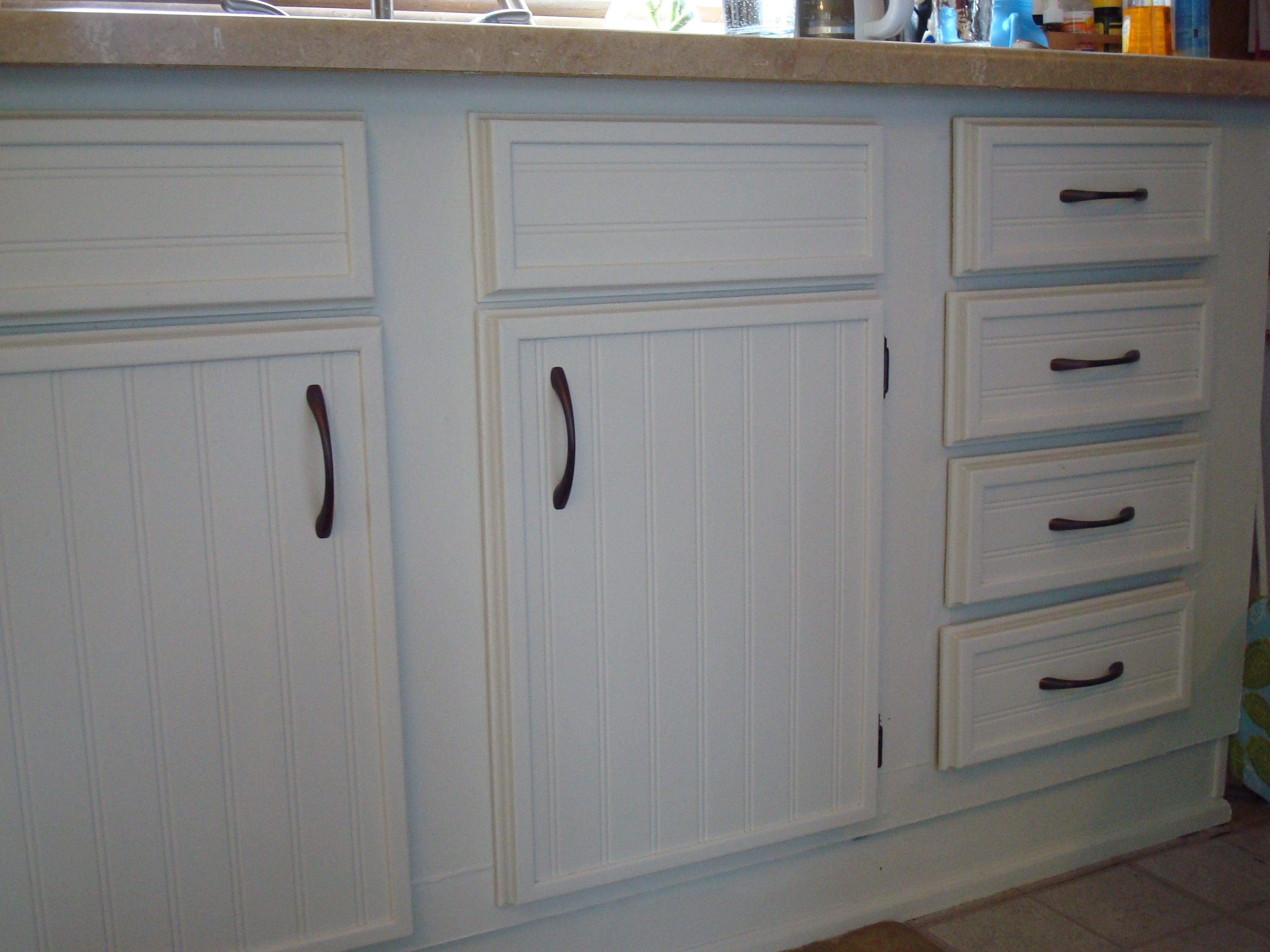 Cabinet update To spruce up ugly cabinets for CHEAP attach bead