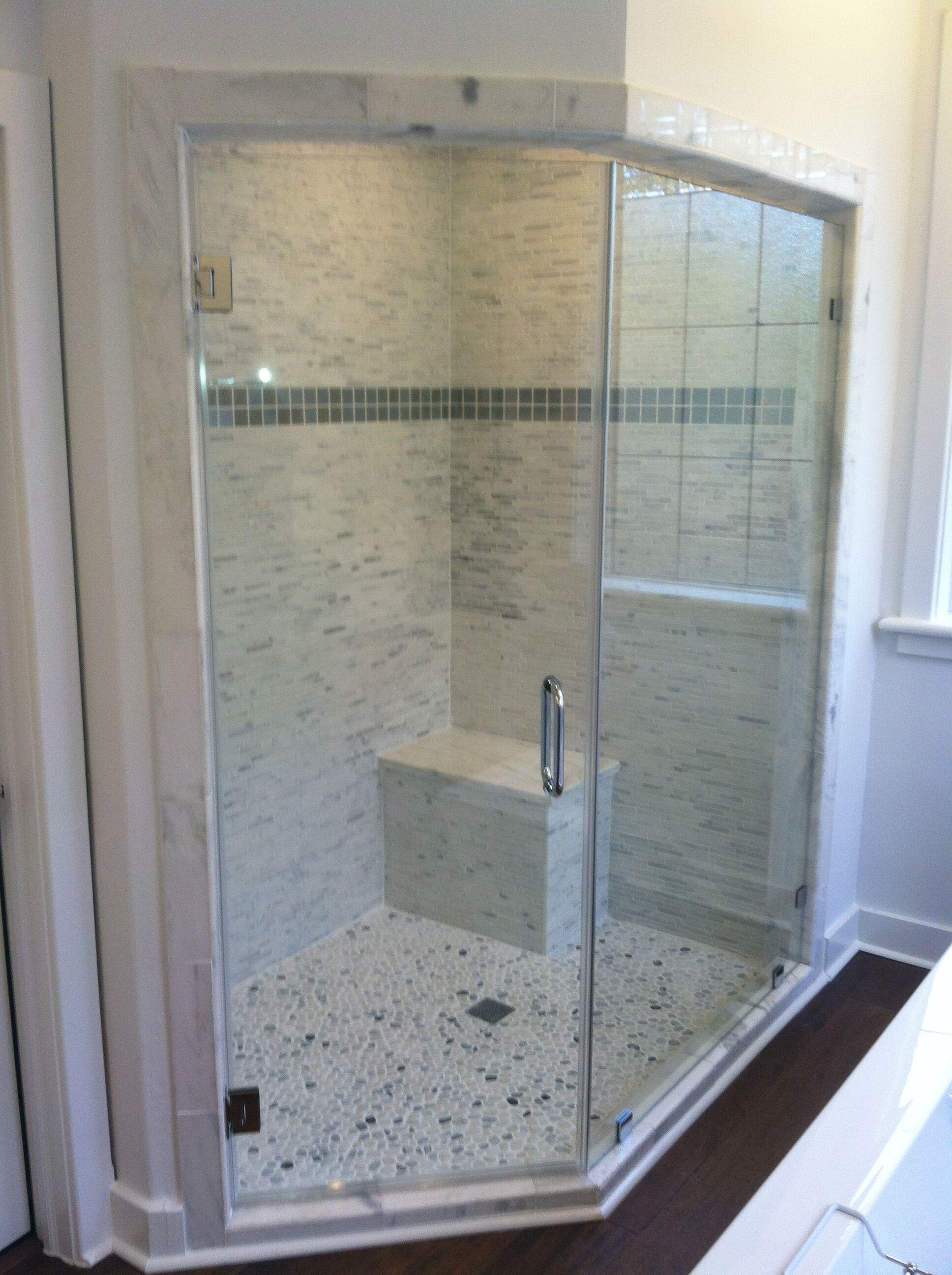 Euroview Heavy Glass Shower Door Houston Texas