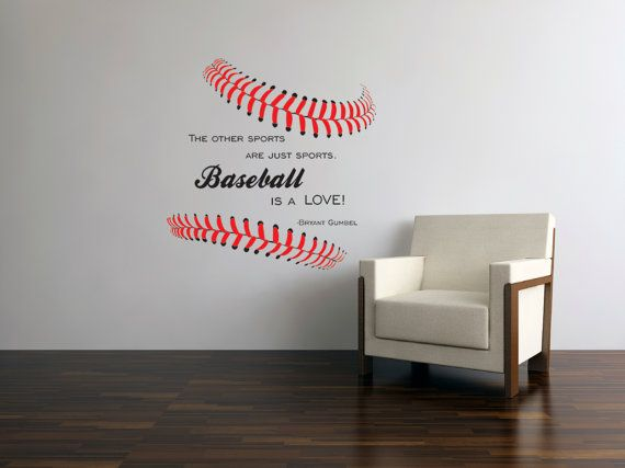 Stitches BASEBALL IS A LOVE Gumbel Quote Vinyl Wall Art Boys Room - Vinyl wall decals baseball