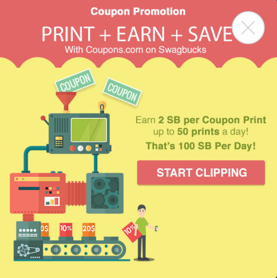 SwagBucks New #Coupon #Promotion Sunday 22 July 2019  Earn 2