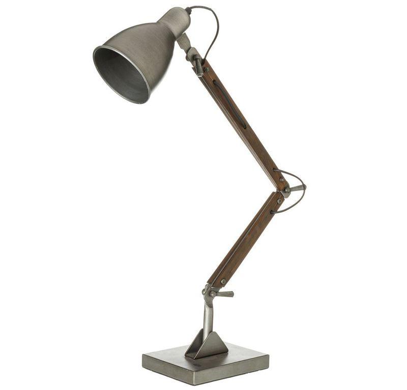 Lámpara de Mesa Industrial DM Hierro 15 x 30 x 72 cm