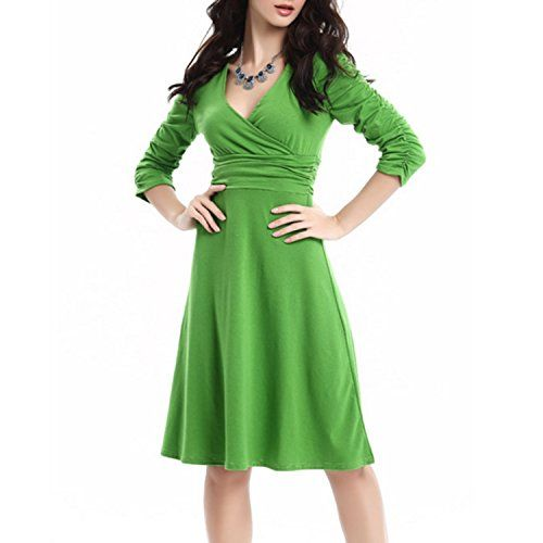 Inshine Women Retro V Neck 2/3 Sleeve Plus Size Swing Bridesmaid Dresses Green-S Inshine http://www.amazon.com/dp/B01BY5TOJ2/ref=cm_sw_r_pi_dp_7GR4wb08PMXQP
