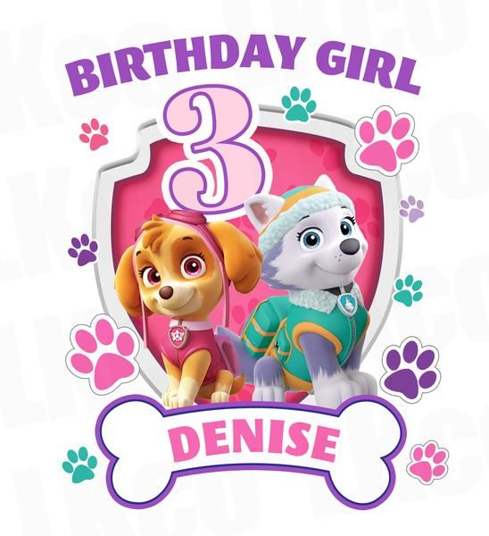 Happy 3rd Birthday Paw Patrol Girl