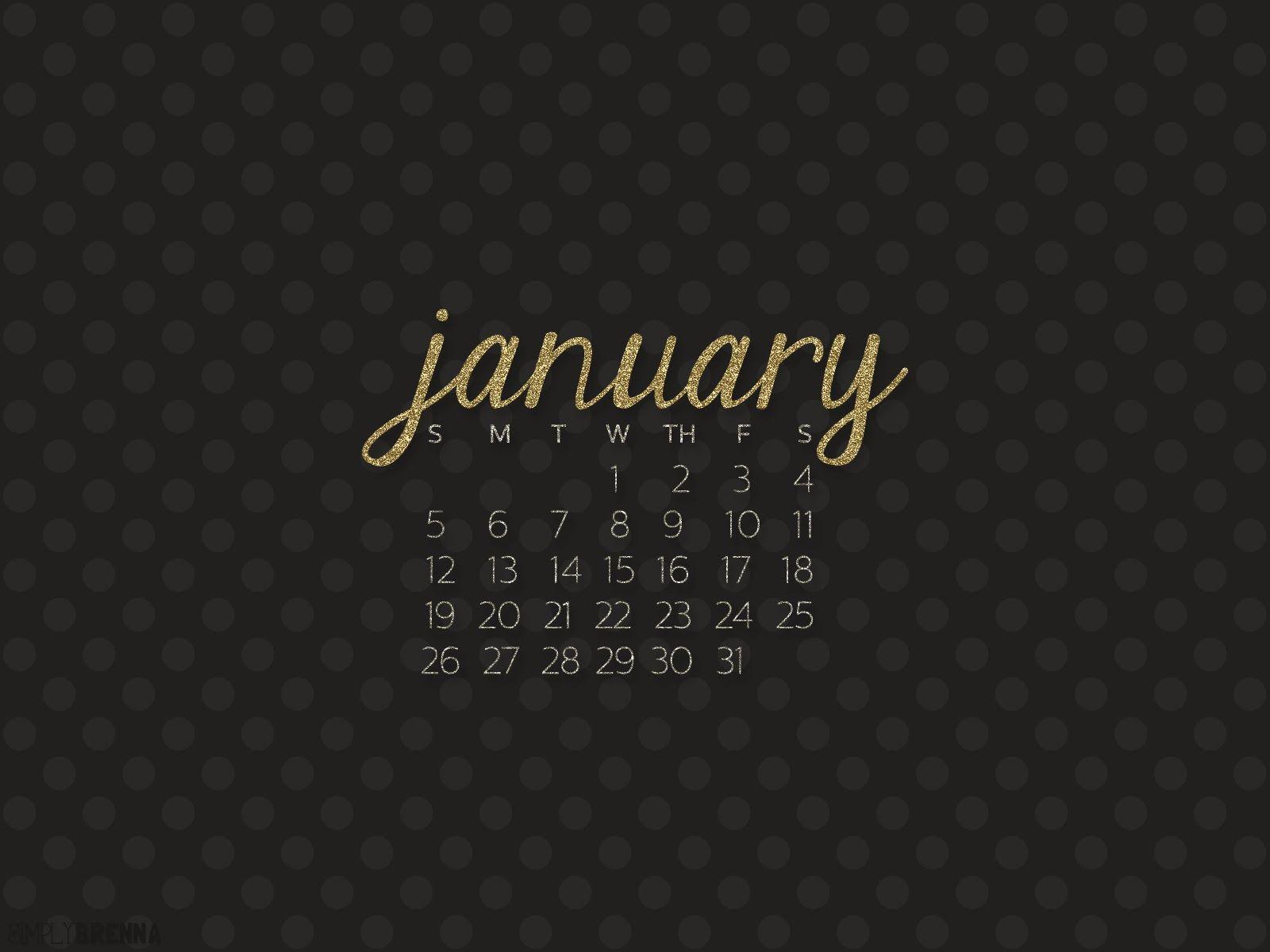 January Desktop Wallpaper