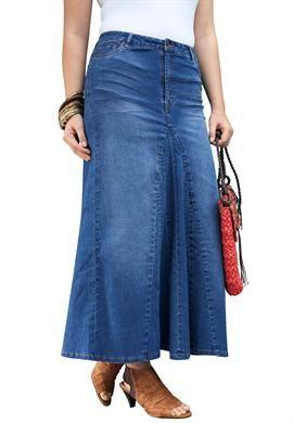 Denim Maxi Skirt | Plus Size Skirts | Jessica London