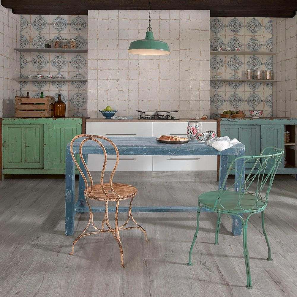 Merola Tile Artisan Azul Decor 13 In X 13 In Ceramic Floor And