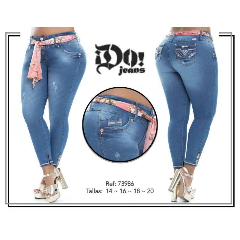 Vaquero Levanta Cola Talla Grande G73986 Talla 14 Color Azul Talla 16 Color Azul Talla 18 Color Az Skinny Jeans Style Tight Jeans Girls Jeans Style
