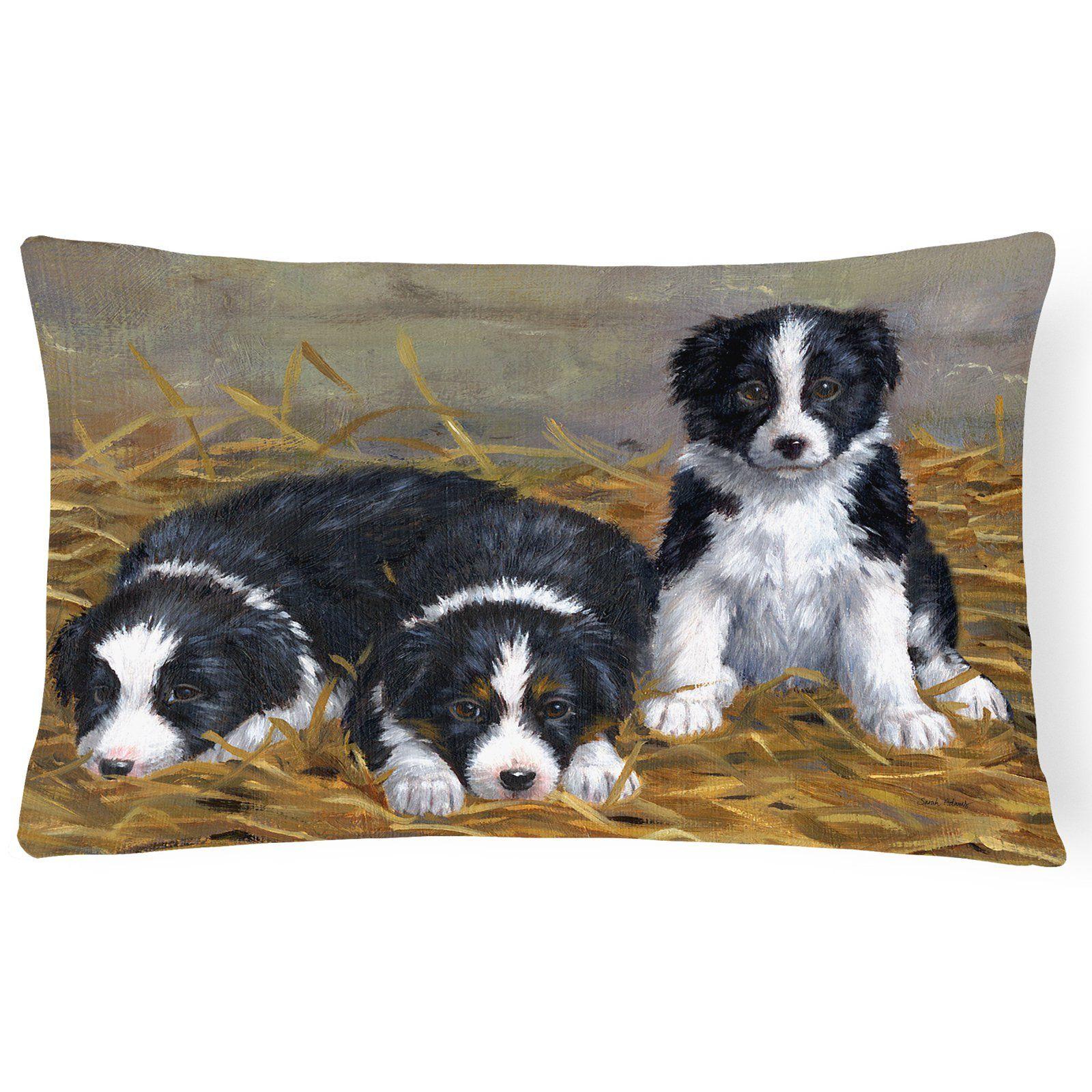 Carolines Treasures Border Collie Puppies Rectangle Decorative