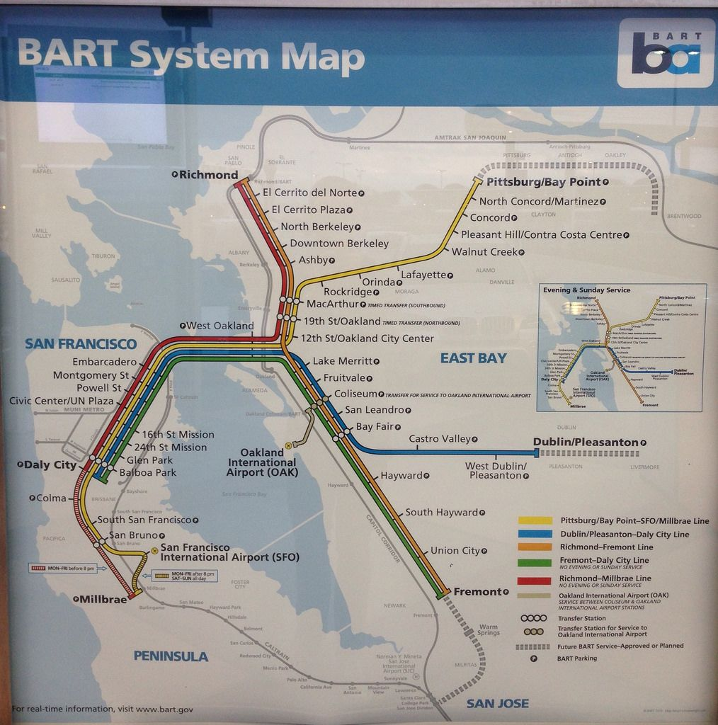 Submission New BART San FranciscoBay Area Map with Oakland