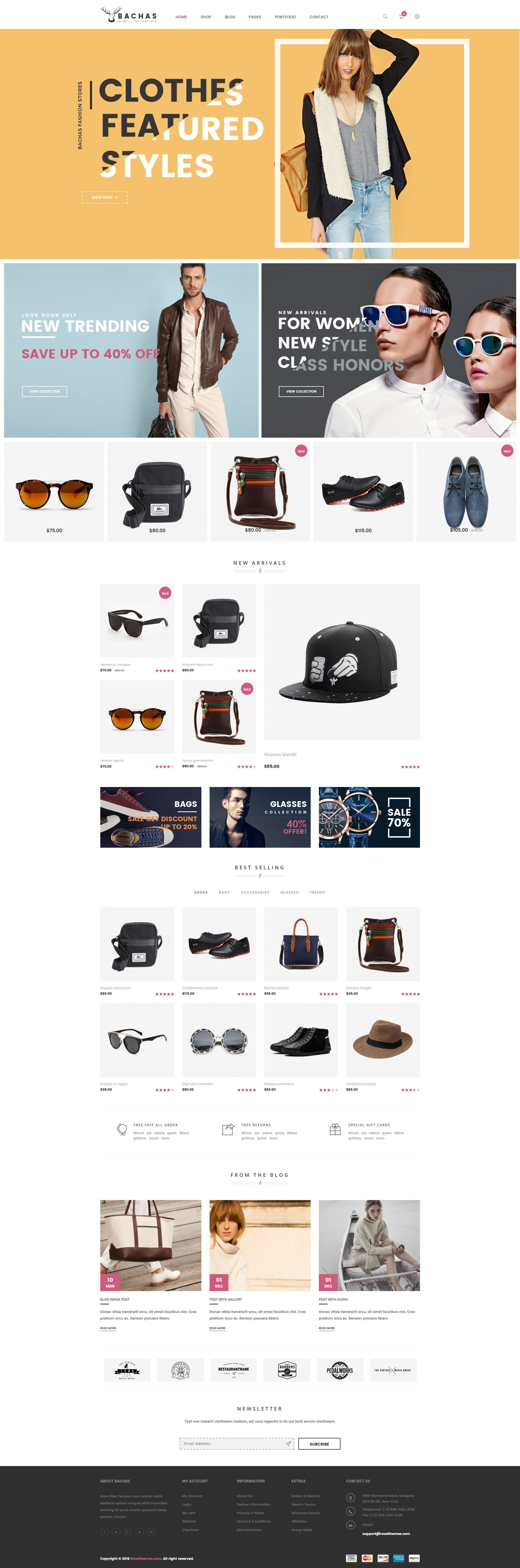 Bachas Responsive WordPress Theme is an elegant design WooCommerce with 4 layout homepages. It supplies many necessary features for an ecommerce online store.
