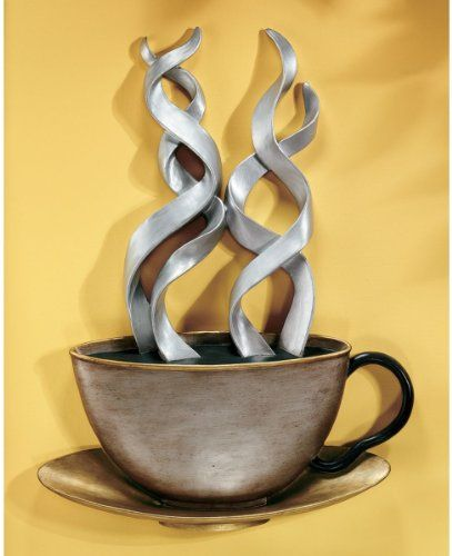 Coffee Metal Wall Art love this 'cup of joe' metal wall art sculpture. | in the kitchen