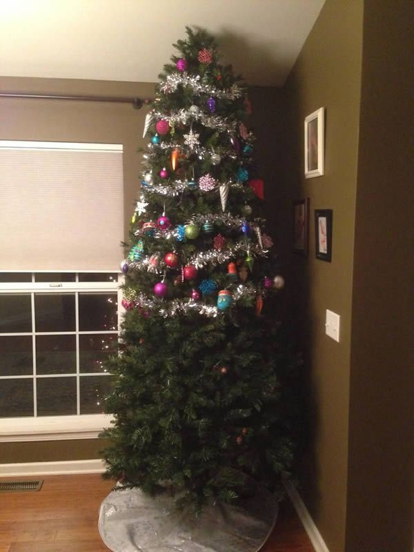 12 Hilarious Child And Pet Proof Christmas Trees Cat