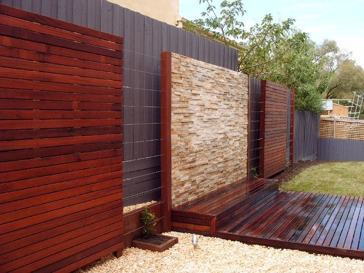 outside herringbone wooden feature wall Google Search