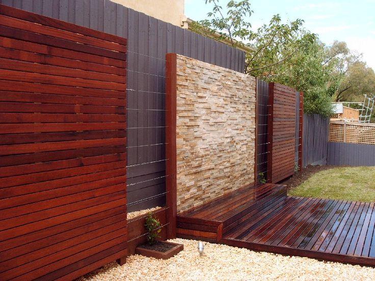 outside herringbone wooden feature wall Google Search