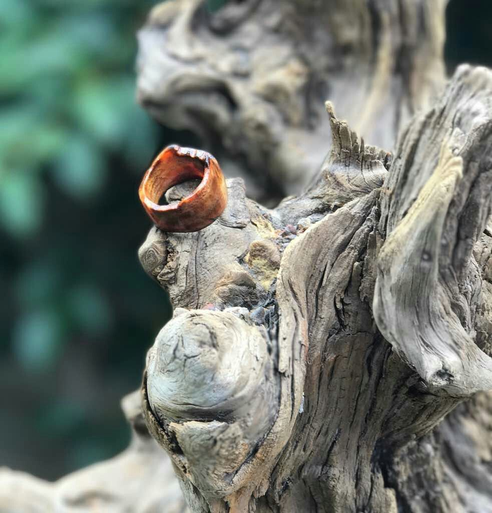 Handmade Live Edge Rings Made From Freshwater Driftwood In