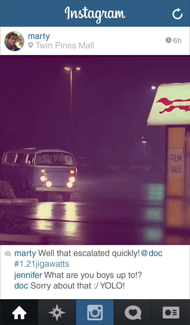 If Marty From Back To The Future Had Instagram 88 Mph