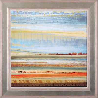 Art Effects Earth Layers I by Selina Rodriguez Framed Painting Print