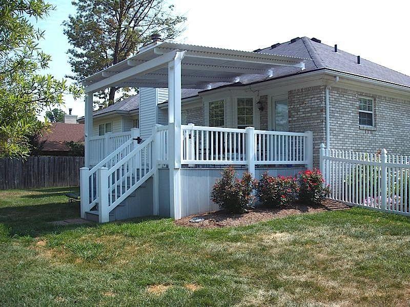 Louvered roof Pergola, Backyard pavilion, Mobile home