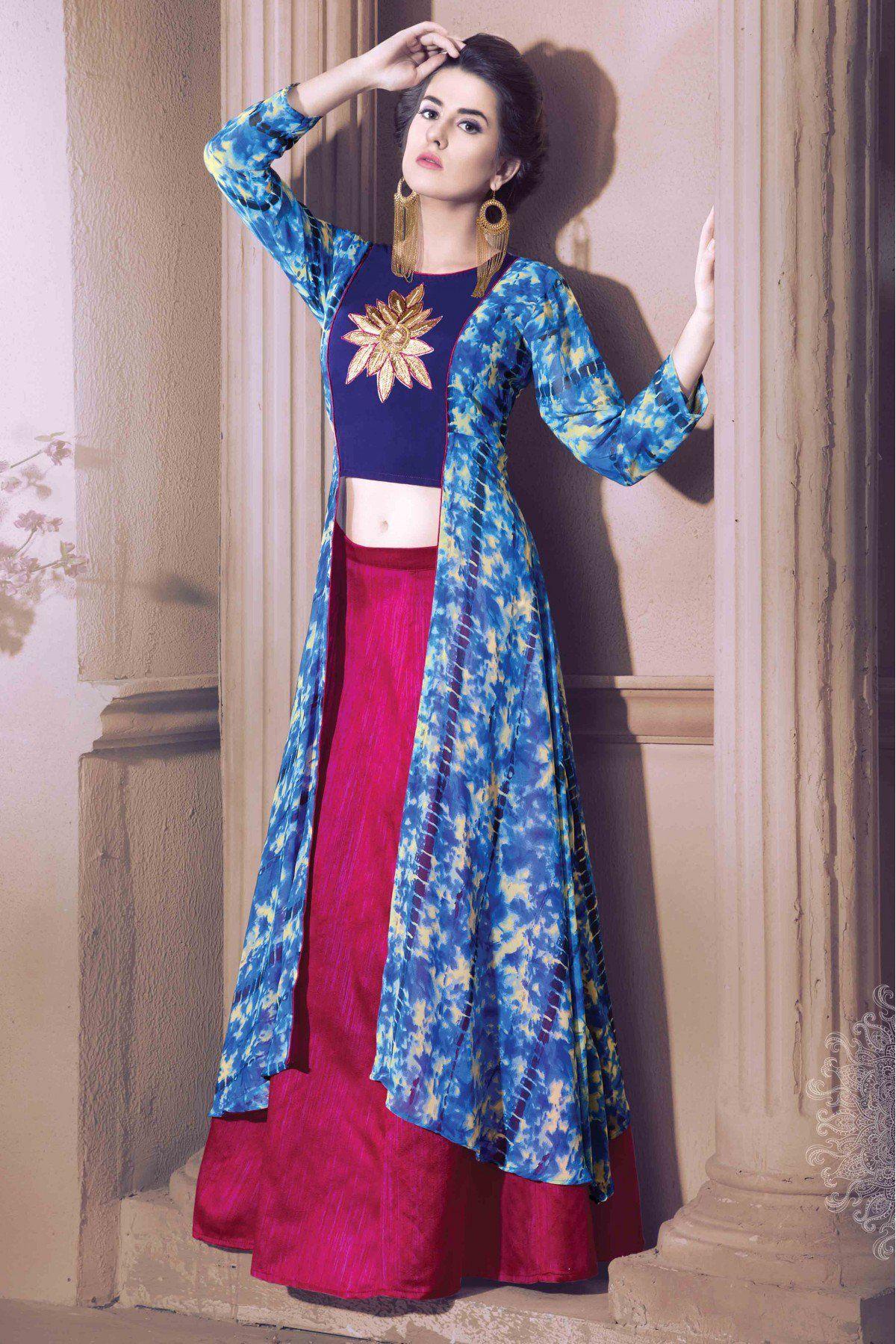 72e93a1fb1 Girls Kurti, Indian Tunic Tops, Designer Kurtis Online, Churidar, Anarkali,  Lehenga