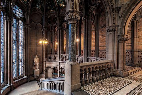 Neo Gothic Interior Manchester Town Hall Manchester