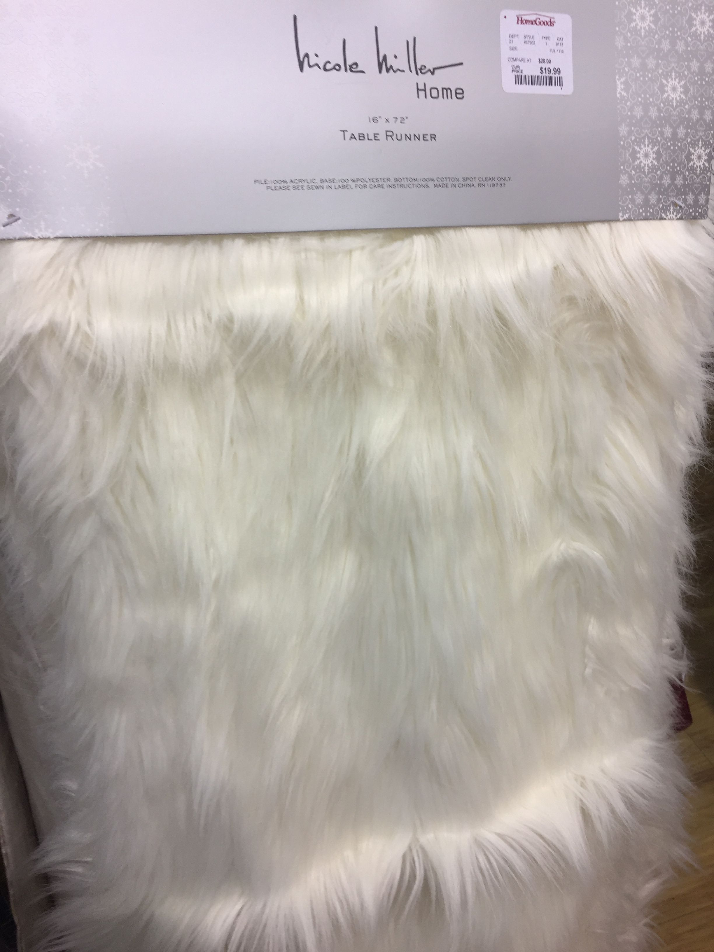 Faux Fur Table Runner For Half The Price At Pier 1