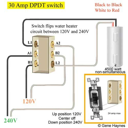 30 amp dpdt switch  wire switch basic electrical wiring