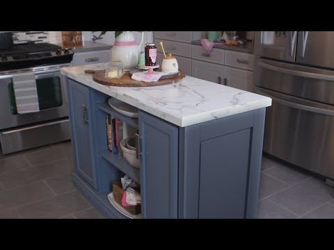 Learn How To Make A Multifunction Kitchen Island From Stock Boards Unfinished Cabinets And A Coun Building A Kitchen Build Kitchen Island Kitchen Island Plans