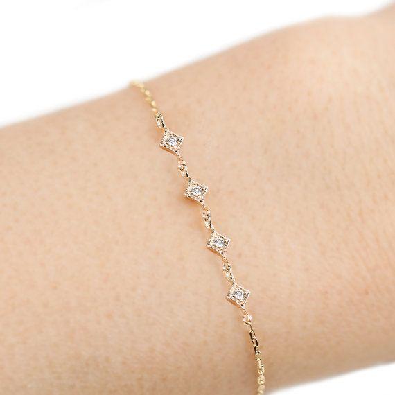 Sac à main charme avec diamants en argent sterling et or 14K