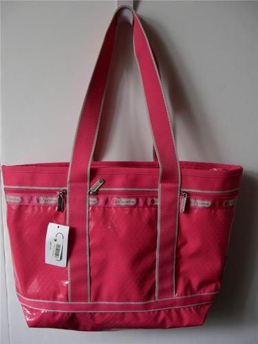 LeSportsac Travel Tote Medium Pink Rasberry Debossed Bag w Pouch $102 | eBay