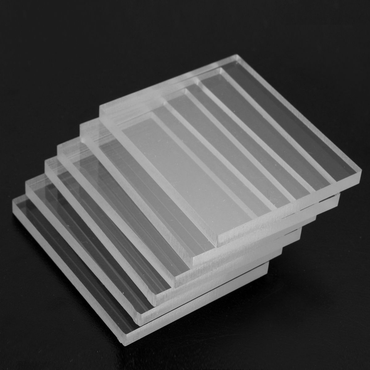 6pcs Acrylic Plexiglass Blocks Pads Card Clear For Craft Stamping 5 6x4 6x0 5cm Stamp Crafts Clear Acrylic Plexiglass