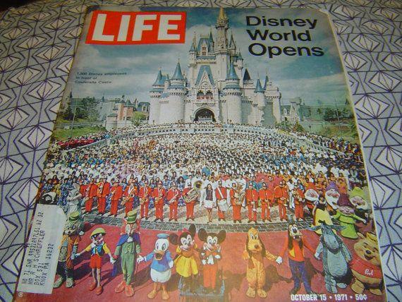 Walt DISNEY WORLD Opens LIFE Oct 15 1971 84 Pages by LONLAR803, $15.00